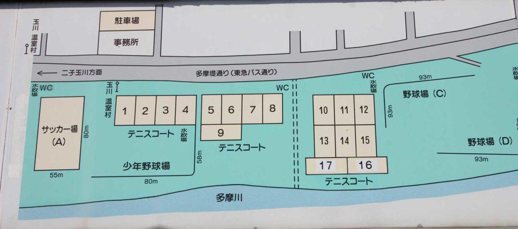 多摩川緑地 案内図