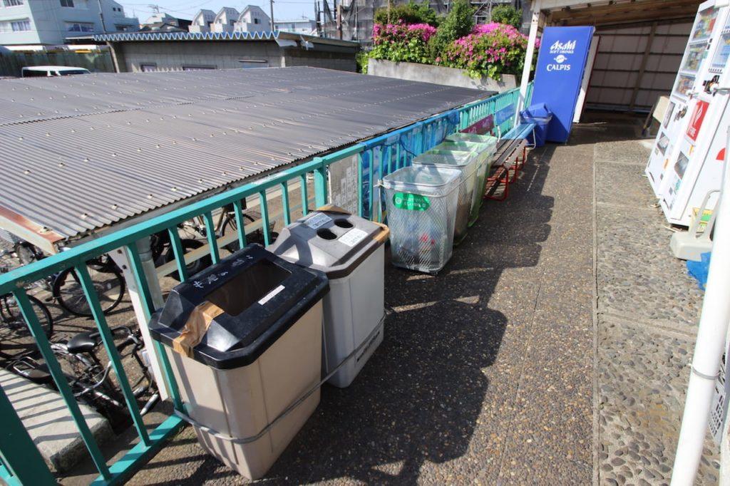 多摩川緑地 ゴミ箱