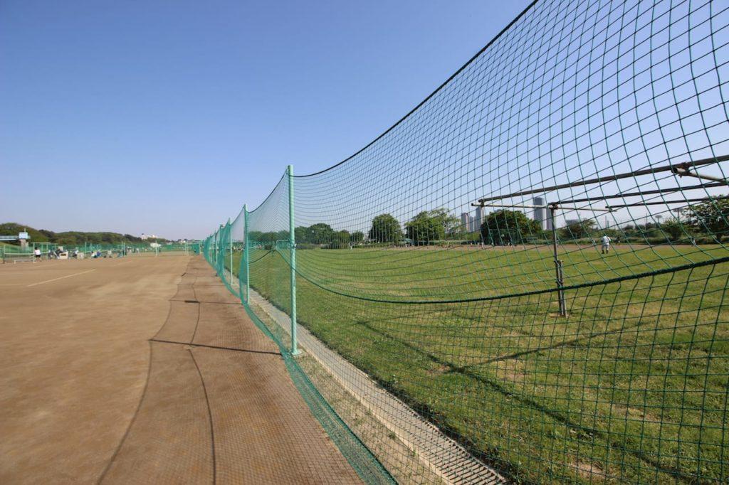 多摩川緑地 柵